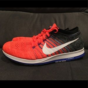 Nike Flyknit Streak Running Shoes Orange Mens 11